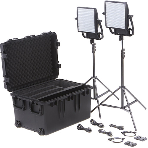 Astra 6X Bi-Color LED Panel Traveler Duo V-Mount Kit