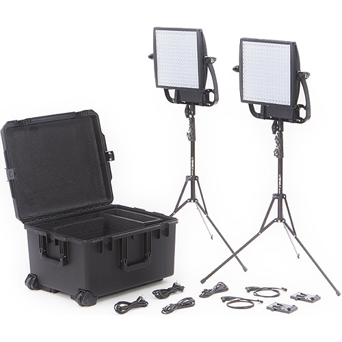 Astra 3X Bi-Color LED Panel Traveler Duo V-Mount Kit